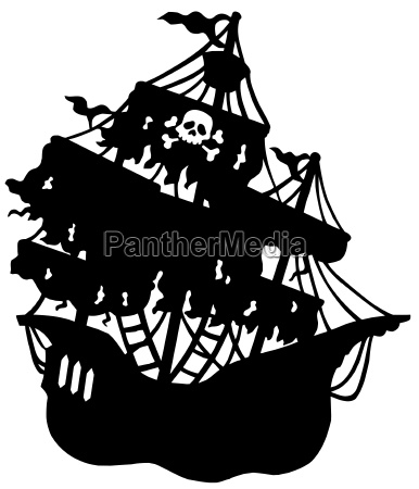 mysterious pirate ship silhouette