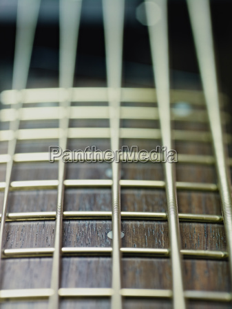 detail of electric bass cords and