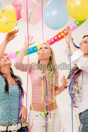 birthday party celebration four woman