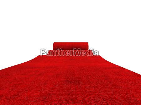 rotolamento tappeto rosso