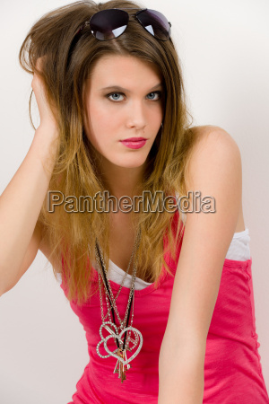 fashion model young woman in
