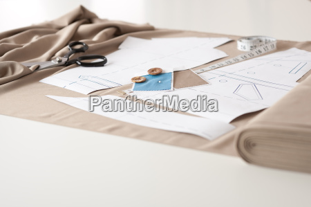fashion designer studio with professional equipment