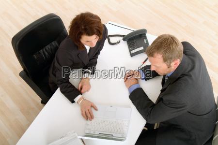 meeting at desk