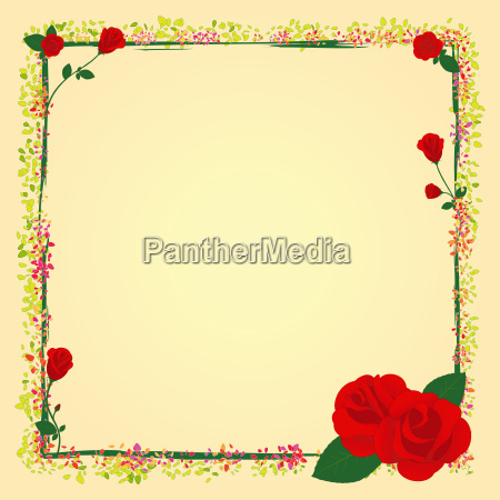 summer rose garden flower frame