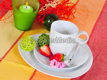 table laid spring food
