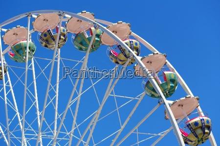 carousel on the spring festival before