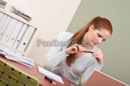 long red hair business woman