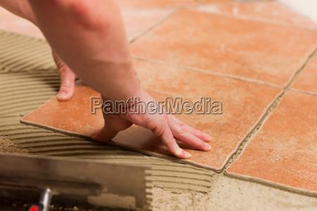 colocacion de las baldosas los azulejos