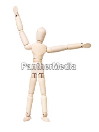 gesturing drawing doll
