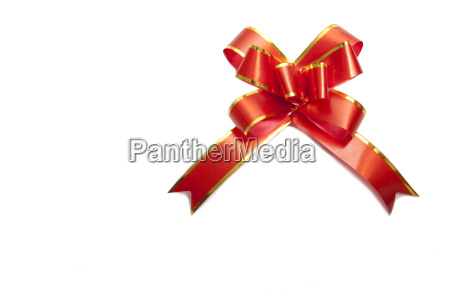 red gift ribbon isolated on white