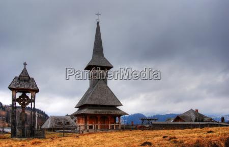 wooden church in transylvania romania