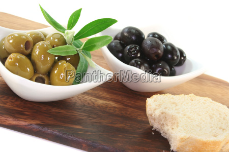 black, and, green, olives - 4554110