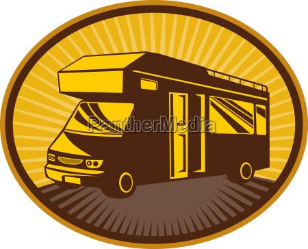 camper van caravan or mobile home