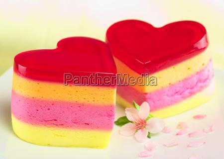 heart shaped cakes called torta helada