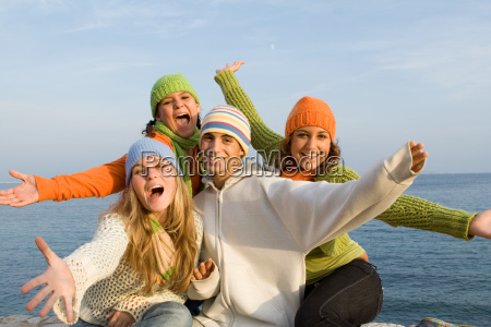 group of singing glee club kids