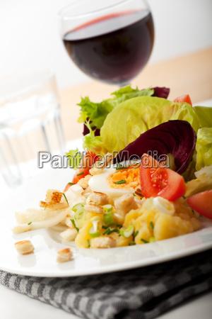 close up of fresh mixed salad