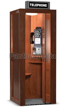 retro phone booth