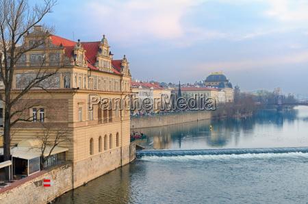 vltava river embankment and smetana museum