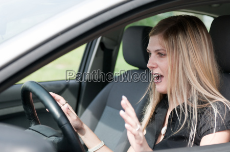 before accident young woman driving
