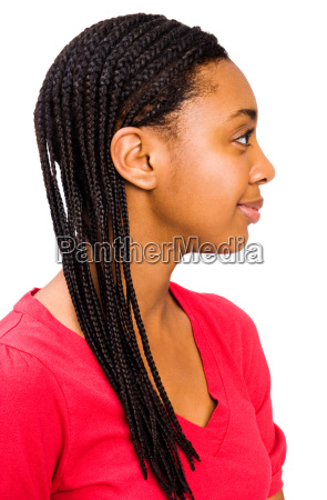 teenager posing