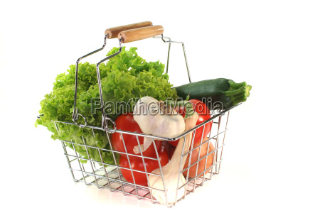 vegetable mix in the shopping basket