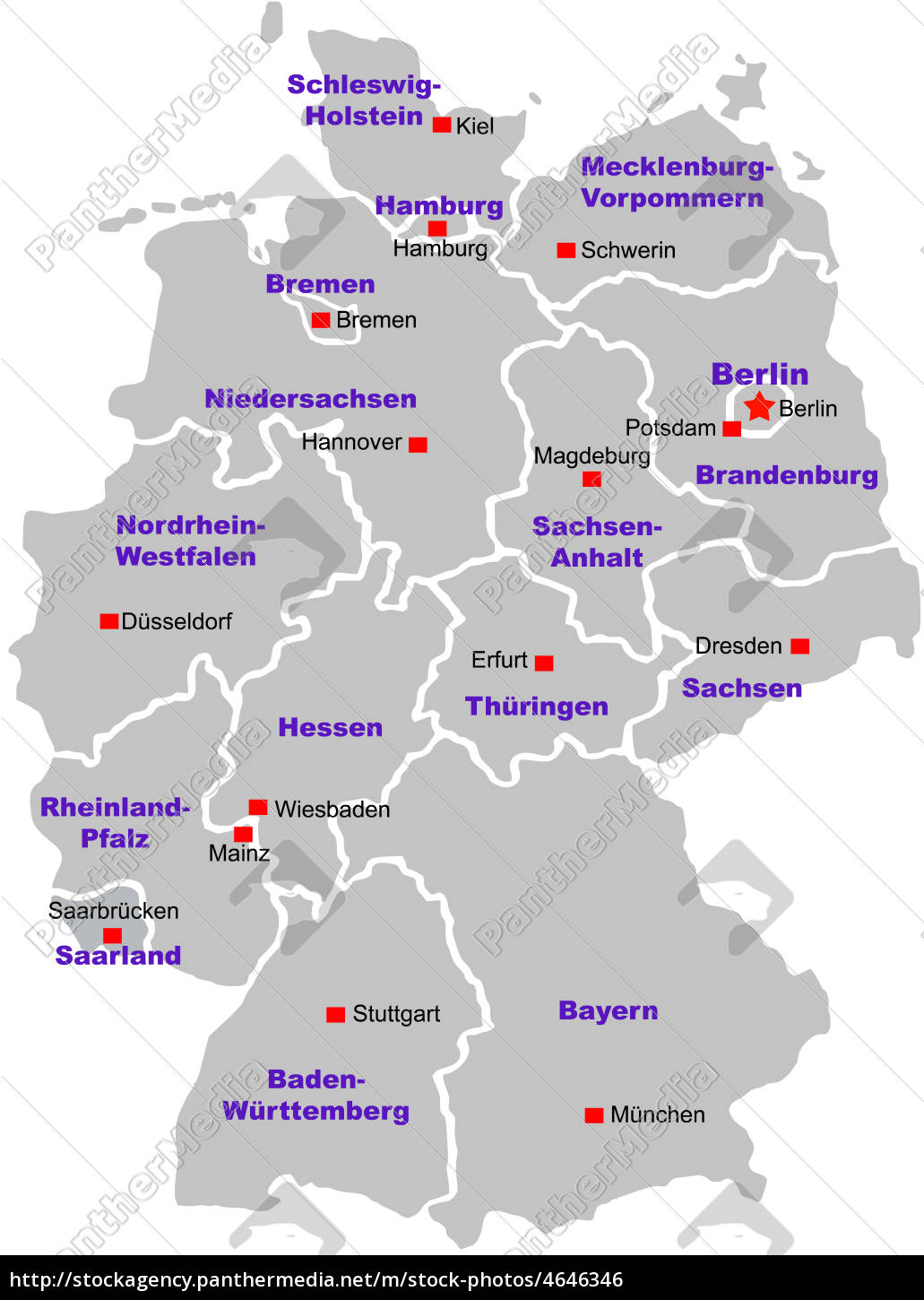 Germany Map Royalty Free Image 4646346 Panthermedia Stock