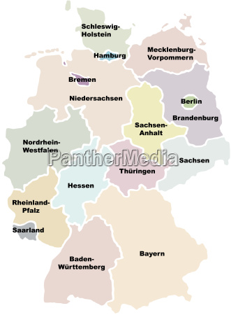 Germany Map Royalty Free Photo 4646348 Panthermedia Stock