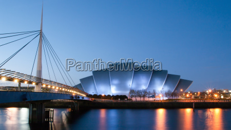 clydeside panorama at dusk