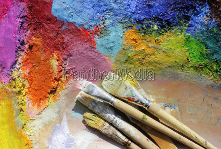 paint palette with