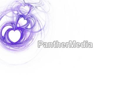 purple heart design with white copy