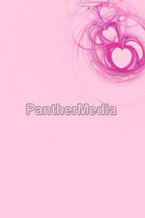 hot pink heart design with pastel