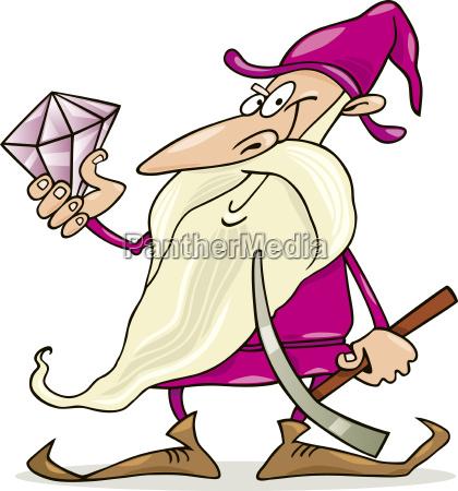 dwarf with diamond