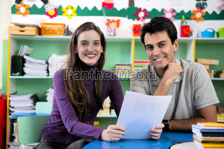 two teachers in the classroom