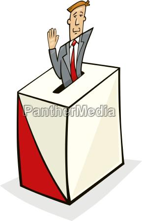 man in ballot box