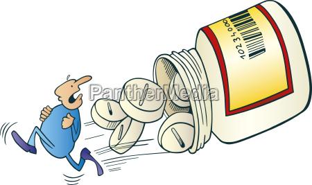 man run away before pills