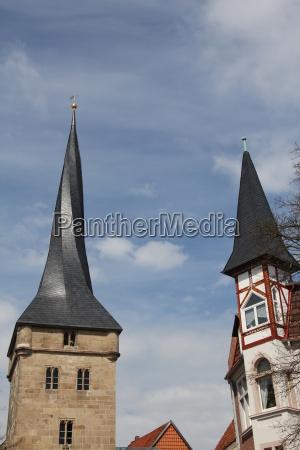 the west tower in duderstadt in