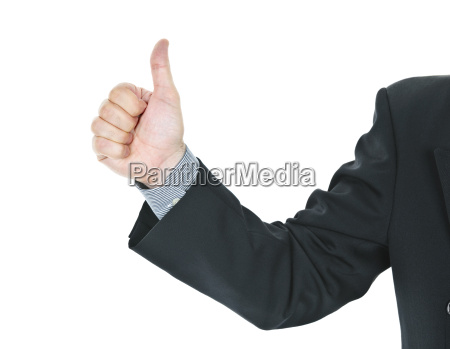 man giving thumbs up gesture
