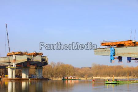 river bridge construction site