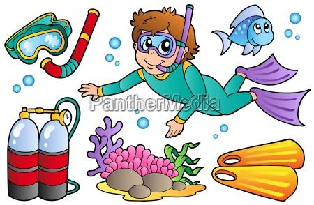 scuba diving collection