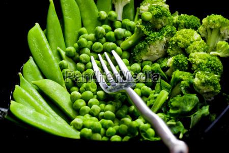 green vegetables still life