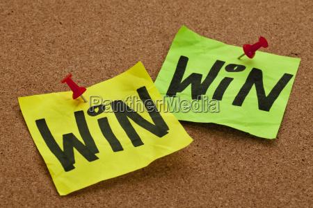win win strategy concept