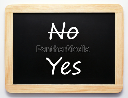 yes no concept sign