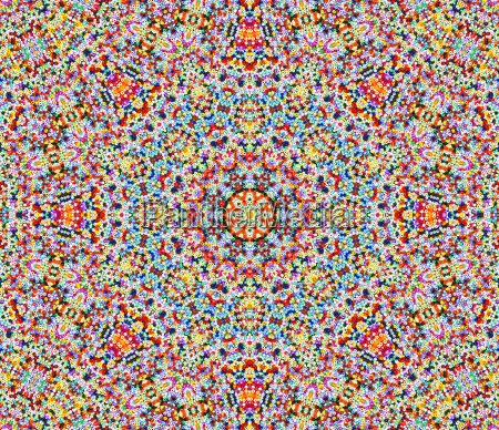 mandala with colorful beads pearl