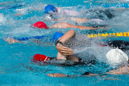 freestyle swimmer in competition