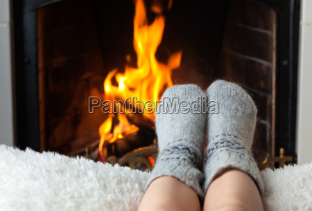 children039s feet are heated in the