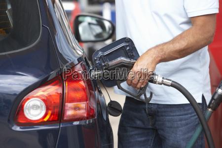man car fuel petrol station gas