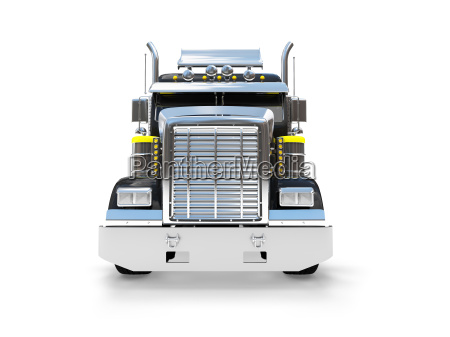 isolated big car front view 04