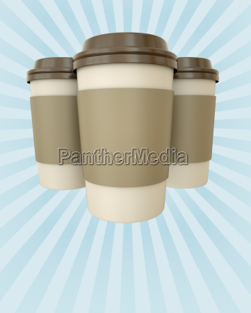 coffee cups poster