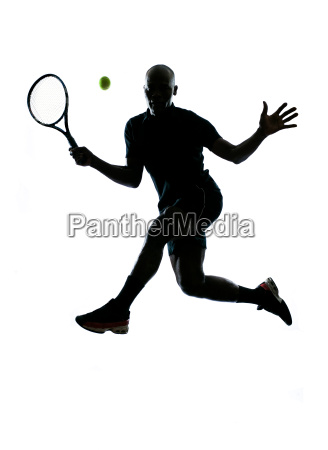 man tennis player forehand