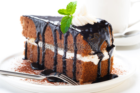 a piece of chocolate cake with